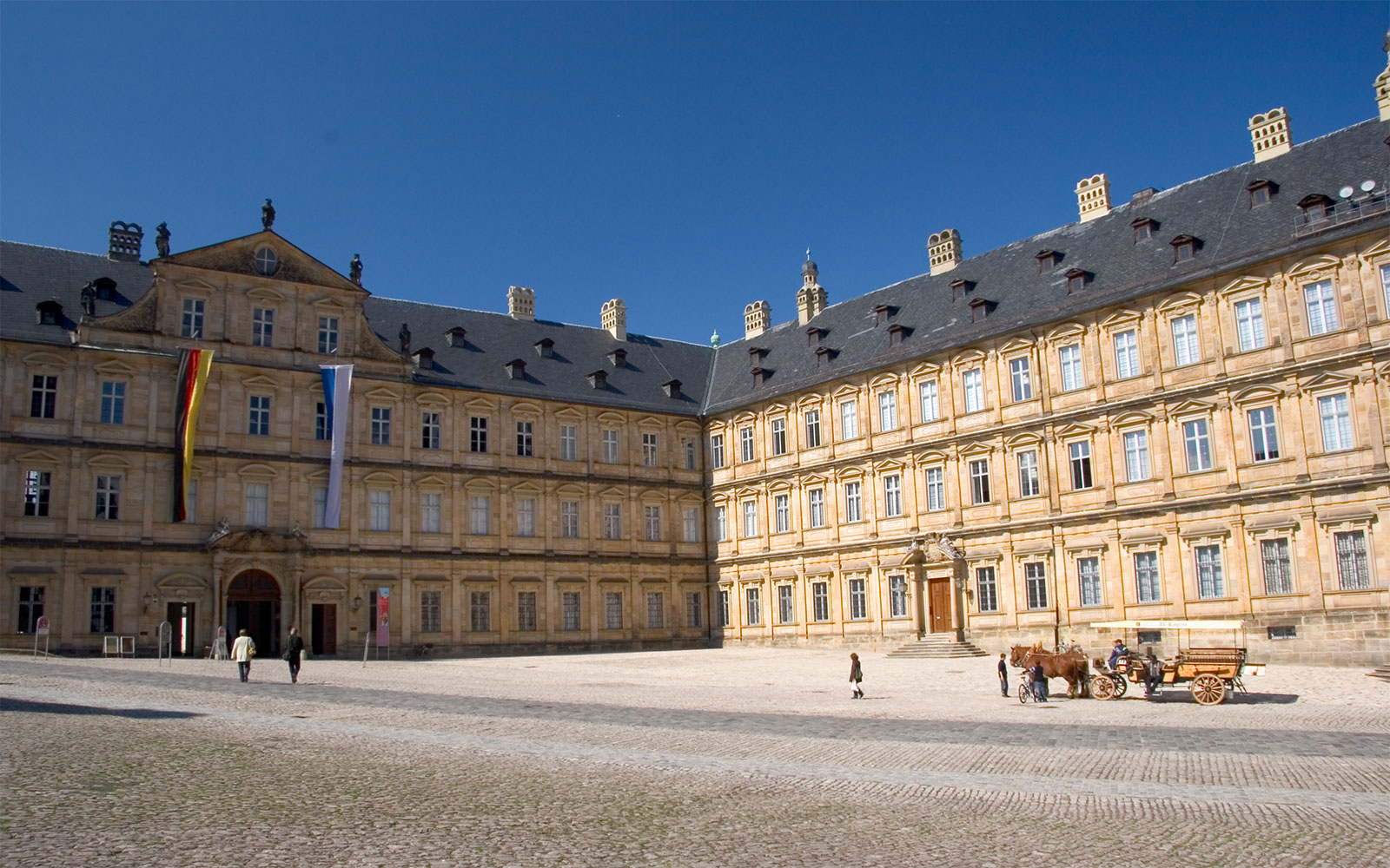 The New Residence, on Bamberg's cathedral square.